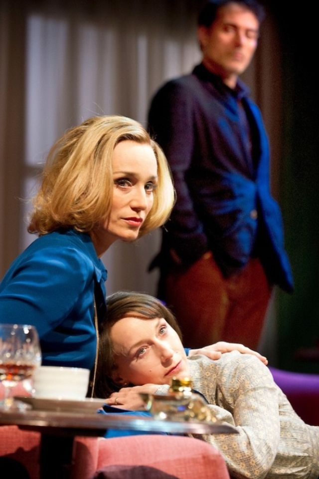 """Kristin Scott Thomas, Lia Williams, and Rufus Sewell in Harold Pinter's """"Old Times"""" directed by Ian Rickson   #photo"""
