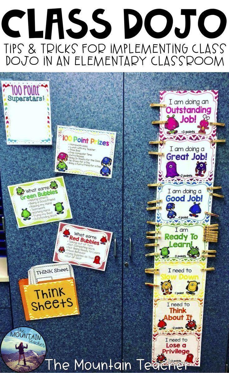 Class DOJO Clip Chart & Behavior Trackers - Editable | Second Grade