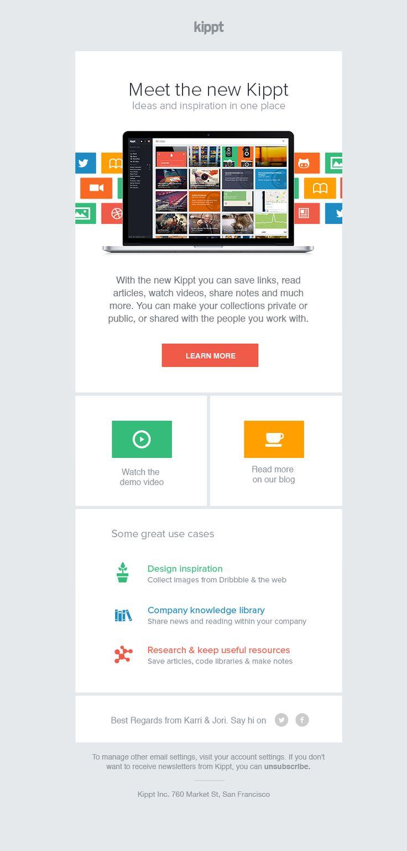 Kippt newsletter - #design #webdesign #creative #inspiration