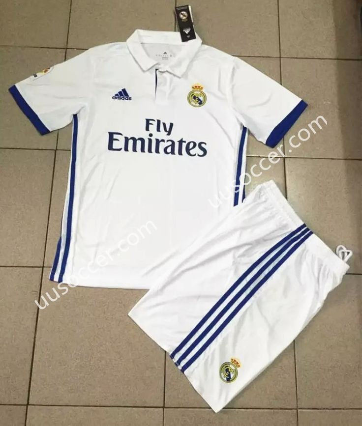 2016-17 Real Madrid Home White Soccer Uniform