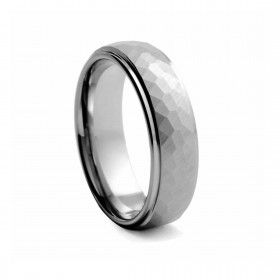 Tungsten hammered men's wedding ring | Diamond Corporation South Africa