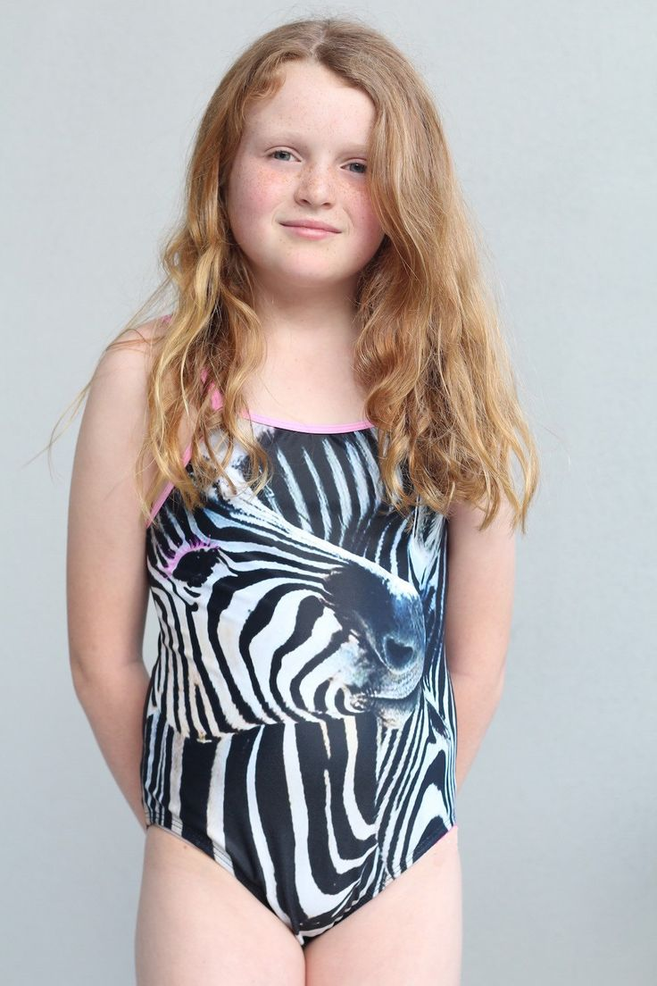 Girls one piece swimmer featuring sublimated zebra design. by LaLaLaDesigns on Etsy