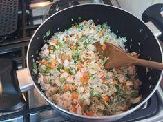 Fabulosa receta para Arroz Chaufan. Fácil acompañamiento tipo comida china. Queda muy bien junto a carne mongoliana.