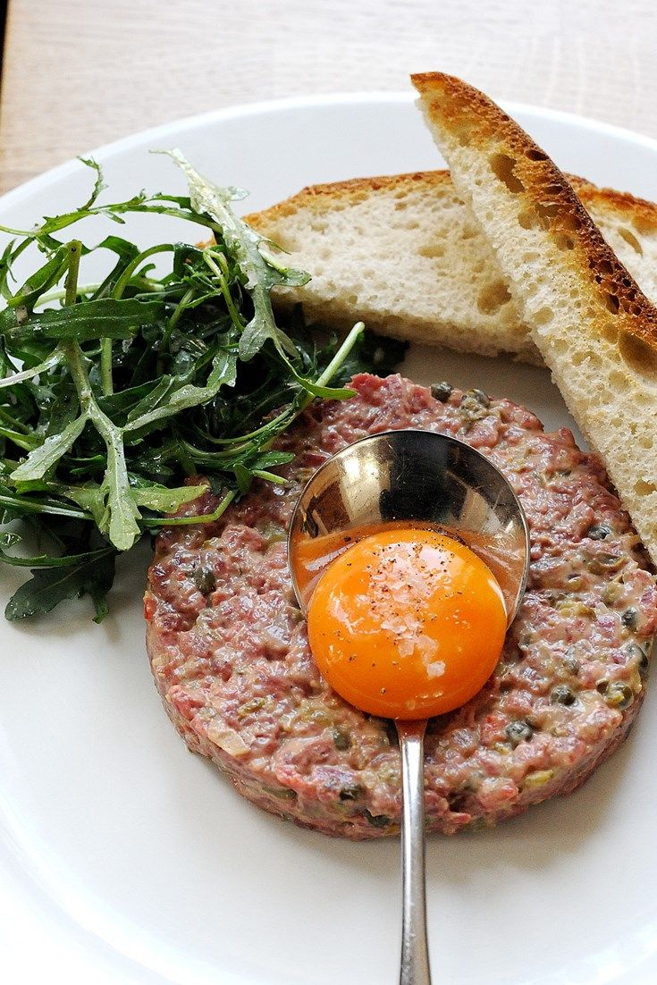 Steak tartare is a classic summer dish and is quick and easy to prepare. Tom Aikens steak tartare recipe uses brandy, tabasco and tomato ketchup in the mix