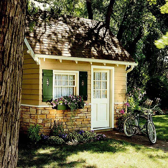 17 best ideas about cottage garden sheds on