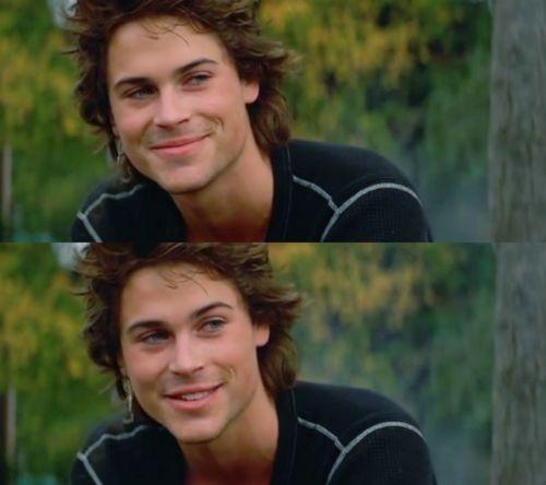 rob lowe....I loved him in St. Elmos Fire...so gorgeous