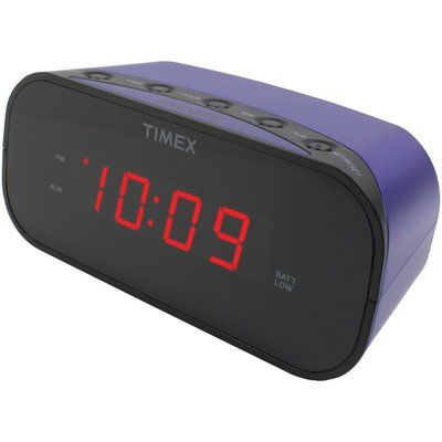 Timex Alarm Tabletop Clock Finish: Purple
