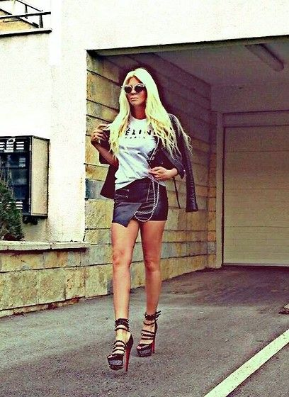 "Jelena Karleusa - Chanel Lego Clutch, Givenchy Jacket, Dsquared Sunglasses, Christian Louboutin ""Insolde"" Shoes - NEO-ROCK"