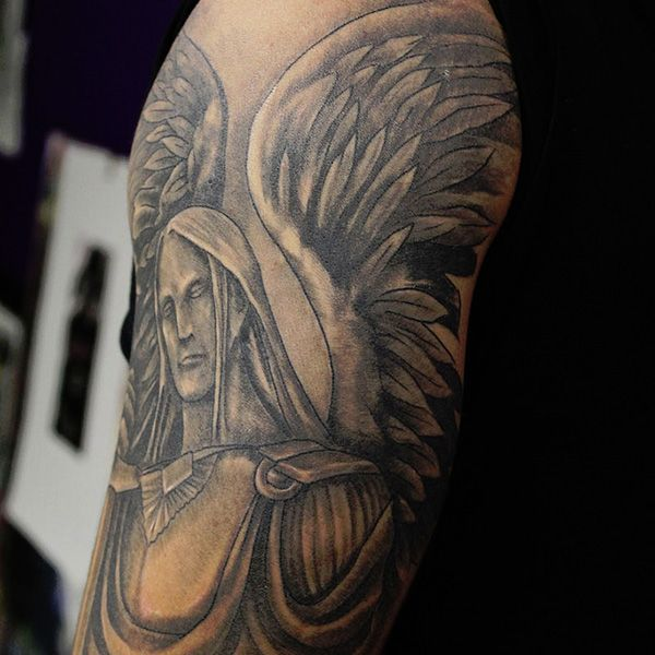 St. Michael Police Tattoo Designs | 27 Perfect St Michael Tattoo Designs - 3 - Pelfind