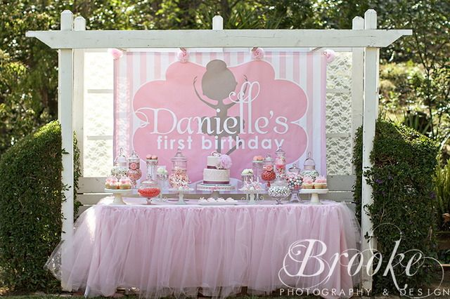 """Photo 1 of 23: Vintage Ballerina / Birthday """"Danielle's Vintage Ballerina 1st Birthday"""" 