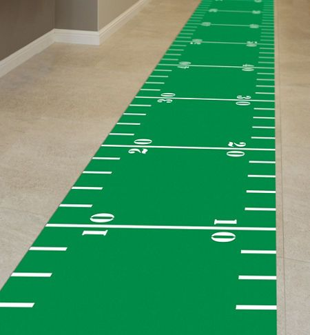 Football Field Floor Runner - Party City Edit description Football Field Floor Runner - Roll out the green carpet for your guests! #HomeBowlHeroContest #HomeBowlHero