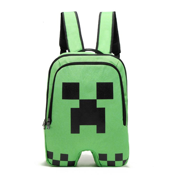 Hign Quality Minecraft Backpack Canvas Zipper Creeper Travel Leisure Bag Bts Back To School Vance Sac A Dos Backpacks //Price: $13.19 & FREE Shipping //     #hashtag1