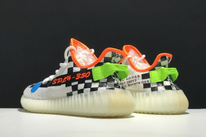 693787b1f 2018 Men s and Women s Off-White x adidas Yeezy Boost 350 V2 Cream White  Checkerboard – Sole Adidas