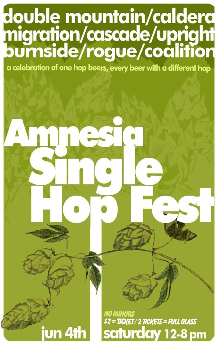 Amnesia Single Hop Fest, June 4