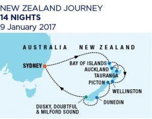 14 nights New Zealand - 9 January 2017 - Ovation of the Seas - RC