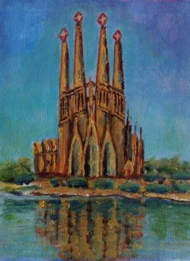 "Saatchi Art Artist Mar Ruiz Bilbao Art; Painting, ""SAGRADA FAMILIA temple"" #art"
