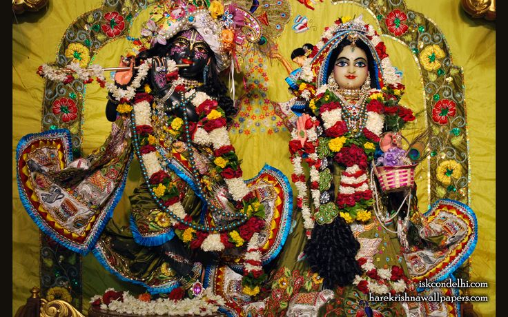 To view Radha Parthasarathi Wallpaper of ISKCON Dellhi in difference sizes visit - http://harekrishnawallpapers.com/sri-sri-radha-parthasarathi-iskcon-delhi-wallpaper-007/