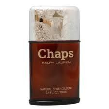 Chaps By Rlaph Lauren 3.4 Oz Cologne Spray for Men by Ralph Lauren. $349.99. SAME DAY SHIPPING!!!. 100 ML SPRAY. Chaps By Rlaph Lauren 3.4 Oz Cologne Spray for Men. Chaps Cologne by Ralph Lauren, Created By The Design House Of Ralph Lauren In 1979, Chaps Is Classified As A Refined, Oriental, Woody Fragrance. This Masculine Scent Possesses A Blend Of Leather, Herb, Amber, Sage And Citrus. Chaps by Ralph Lauren is authentic, we do not sell knockoffs or imitations.