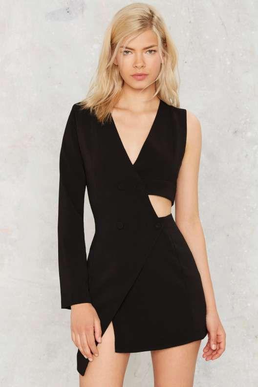 Nasty Gal Tux Be a Lady Cutout Dress - Dresses
