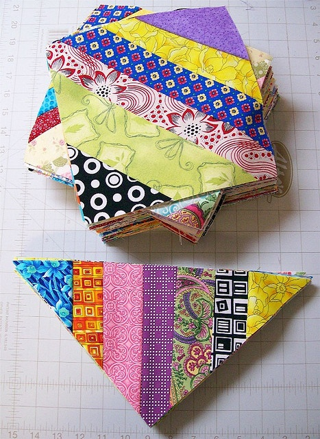 string blocks by Piecemeal Quilts, via Flickr