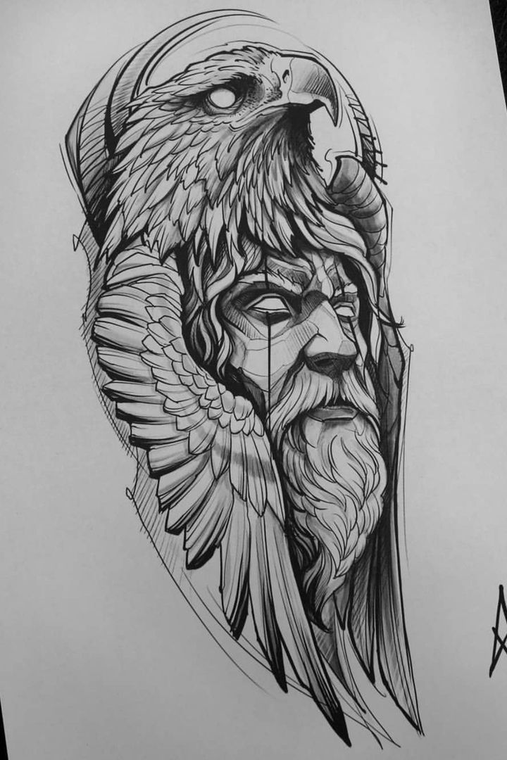 eagle head sketch tattoo – #Eagle #sketch #tattoo