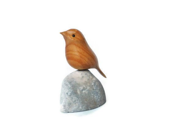 sparrow art hand carved bird wood carving on limestone