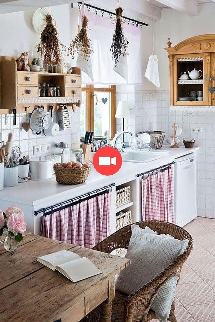 24 idées uniques de rideaux d'armoires de cuisine pour ...