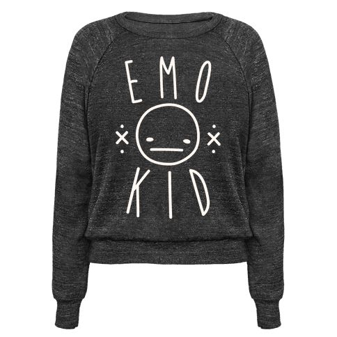 Show off your emo style with this emo raglan with an apathetic smiley face. Perfect for an emo girl, emo boys, emo kid, sad girl quotes, funny emo, and a sassy emo or sarcastic emo!
