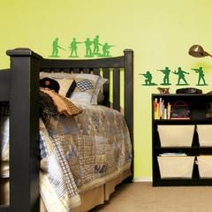 Army Men Wall Stickers above a boys bed