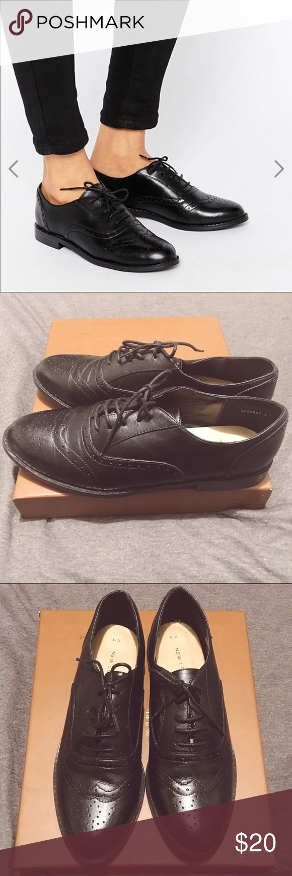New Look Real Leather Brogues Never worn brogues. Low (basically flat) arch shoe with round toe New Look Shoes Flats & Loafers