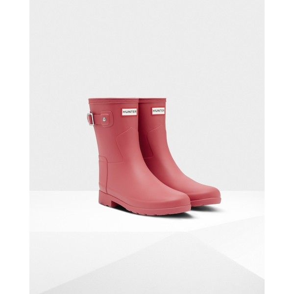 women's original refined short wellington boots ❤ liked on Polyvore featuring shoes, boots, rain boots, short welly boots, short boots, short wellington boots and short shoes