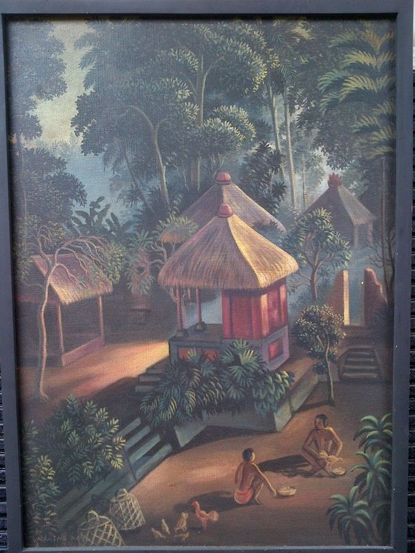 Village in Bali - oil on canvas - 50 x 70 cm - Price : Call