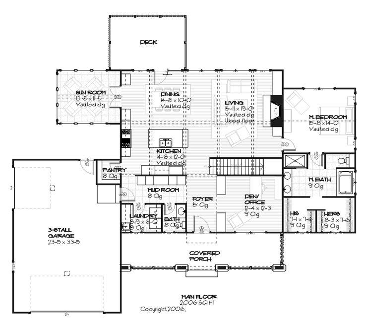 Craftsman style house plan love the mudroom bathroom for Bathroom in garage plans