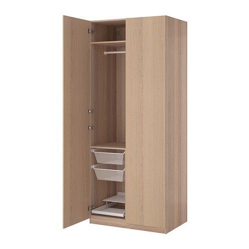New IKEA PAX Wardrobe White stained oak effect nexus white stained oak veneer xx cm