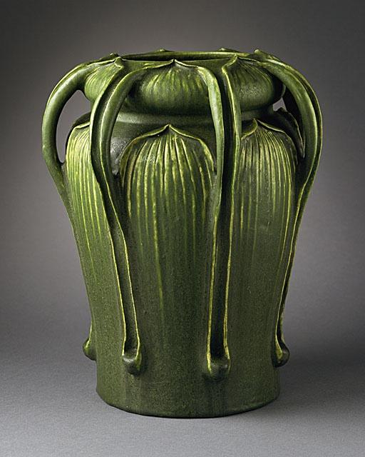 Art Nouveau Grueby vase, 1900