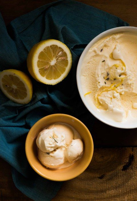 lemon lavender ice cream.