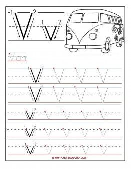 free printable letter v tracing worksheets for connect the dots alphabet writing. Black Bedroom Furniture Sets. Home Design Ideas