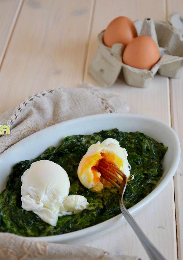 uova in camicia e spinaci