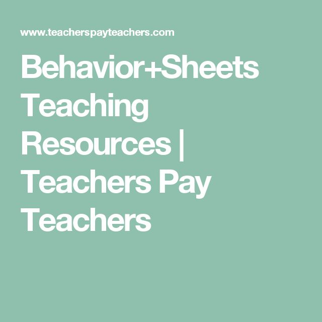Behavior+Sheets Teaching Resources | Teachers Pay Teachers