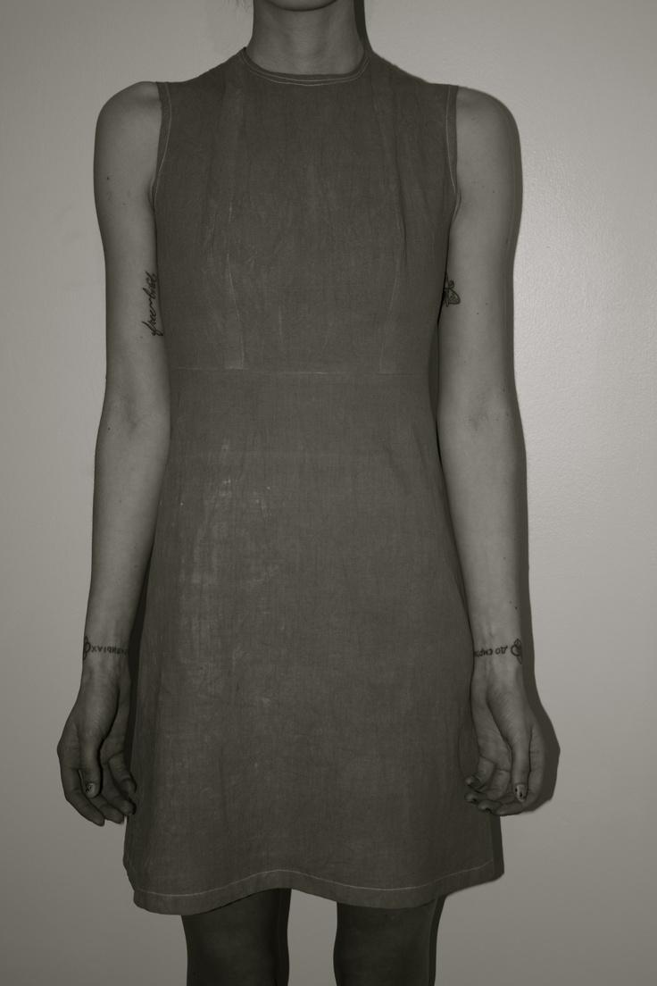 Rabbit Spine Dress (front) | Freya Edmondosn