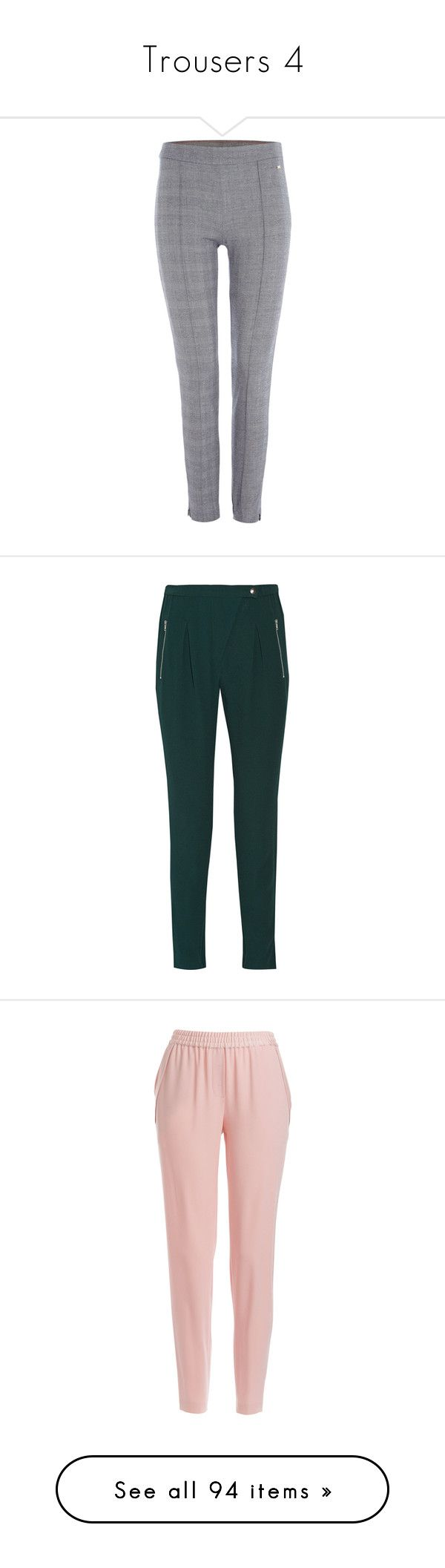 """""""Trousers 4"""" by laumariborche on Polyvore featuring pants, leggings, navy, women, navy pants, navy trousers, navy blue leggings, tommy hilfiger, navy leggings y green"""
