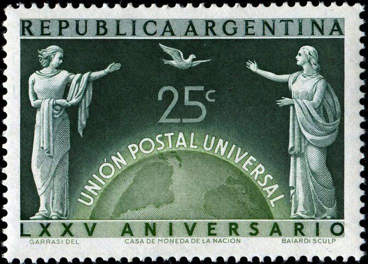 Engraved by BaiardiArgentina586AllegoryUPUIntercommunication-11-19-1949