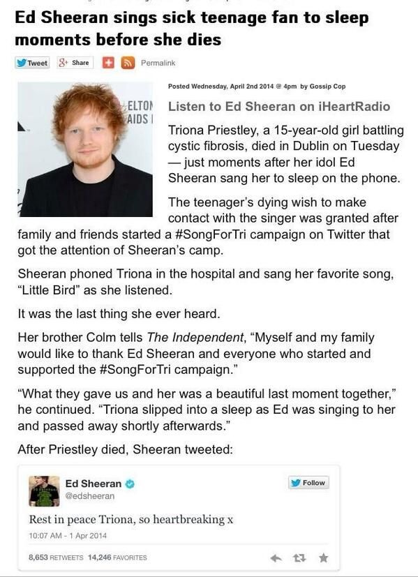 Ed sheeran.. I LOVE him! I LOVE him! I LOVE HIM!❤