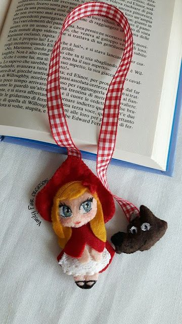 Vanity Fair creazioni : Segnalibro di Capuccetto rosso....per una lettura ...