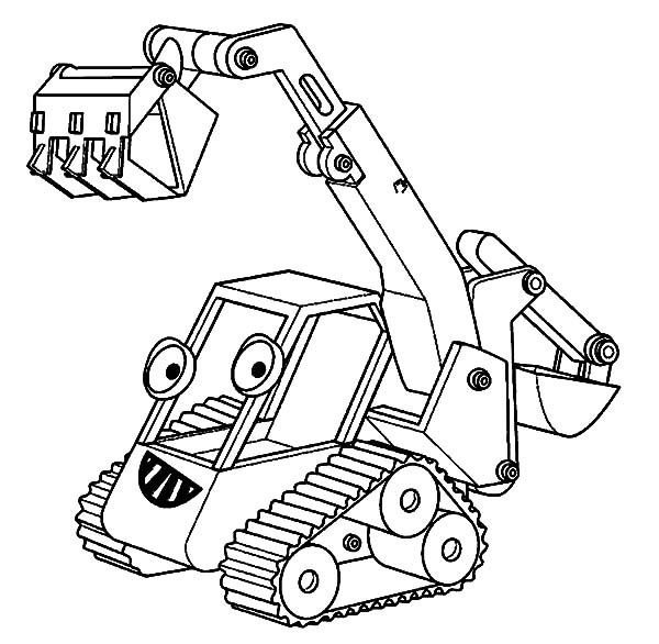 Excavator Bob The Builder Excavator Coloring Pages In 2020 Coloring Pages Online Coloring Pages Kids Printable Coloring Pages