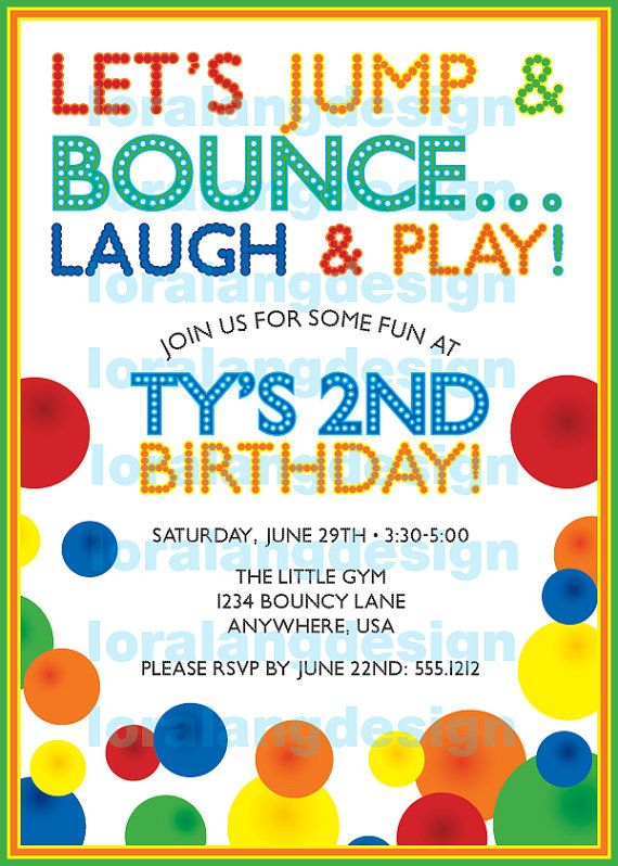 DIY Printable Bouncy Ball Birthday Party by loralangdesigns, $15.00