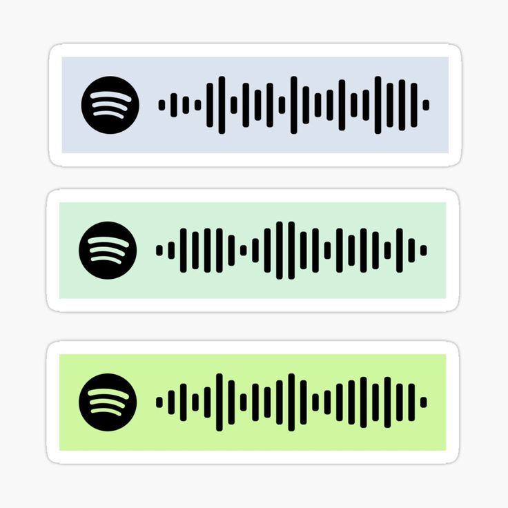 Narrated for you spotify codes 44 glossy sticker by