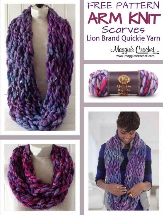 Arm Knitting Free Pattern