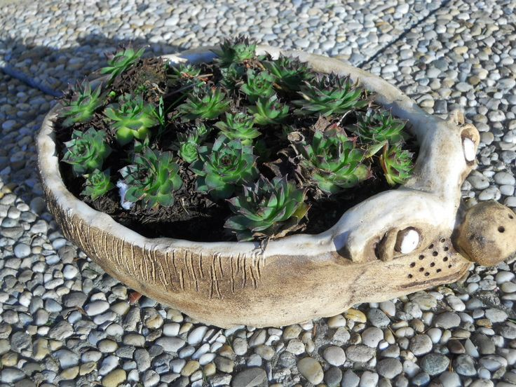 Ježek květináč keramika