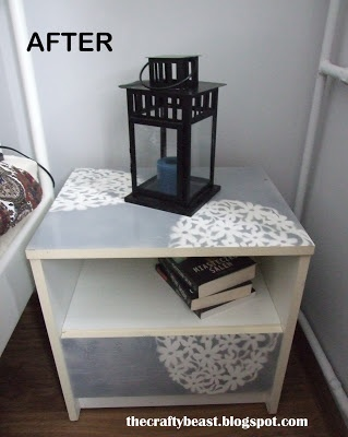 refashion of a bedside table